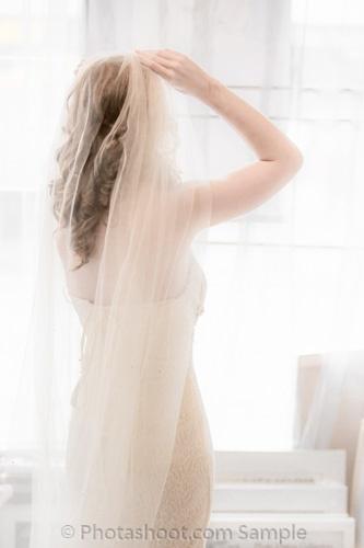 Wedding Bride Veil Window White 150312 Photashoot Surrey Wedding Photography