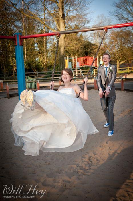 Wedding Photography Hot Shot: Haigh Hall Swing