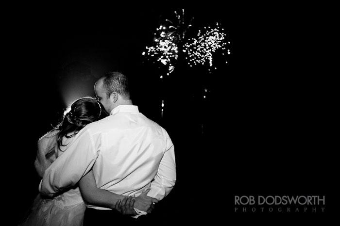 wedding photography - bride and groom with fireworks