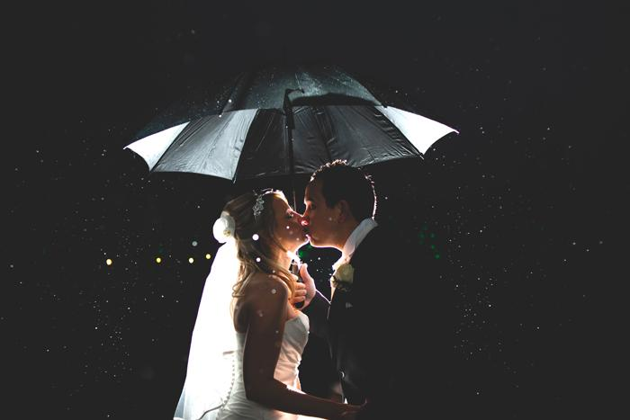 Wedding Photography Hot Shot: Kissing in the Rain