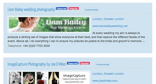 Find a Wedding Photographer Upgrade