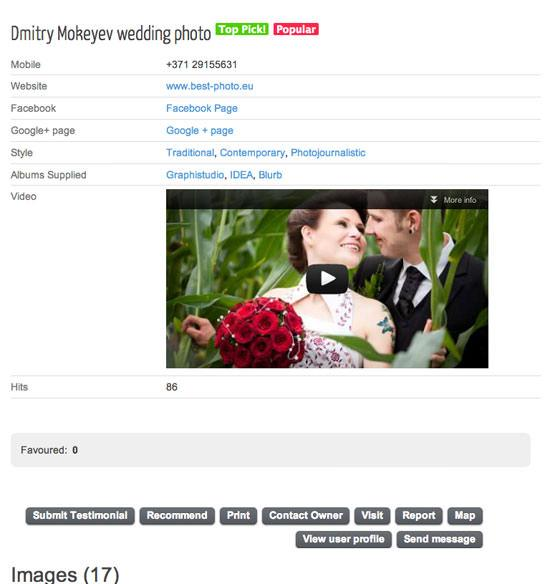 Find a Wedding Photographer - site upgrade
