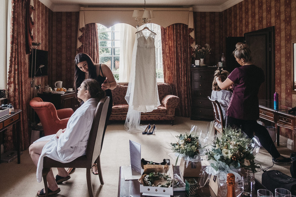 Bridal Prep at Judges at Kiklevington