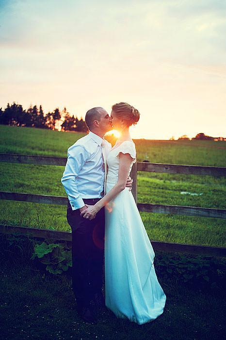 Wedding Photography - Bride and Groom - Kissing