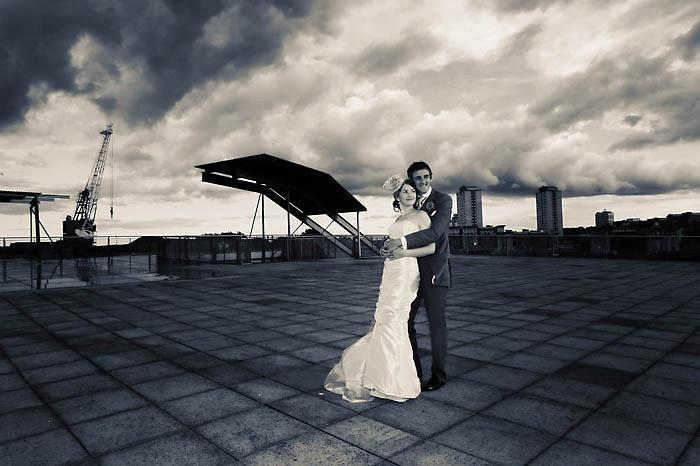 Bride and Groom in a Storm - wedding photography
